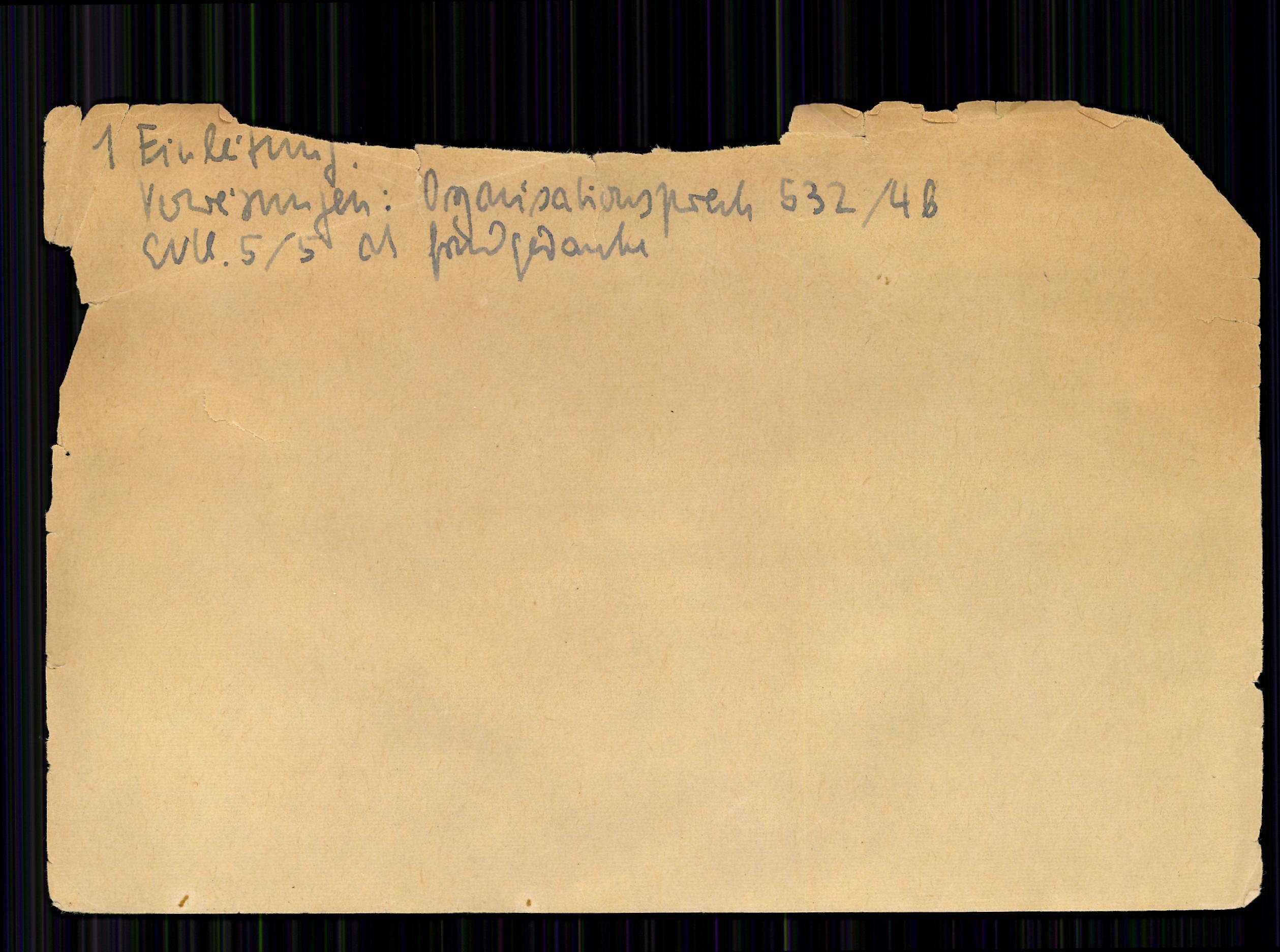 Карточка с номером 1 во второй картотеке Лумана